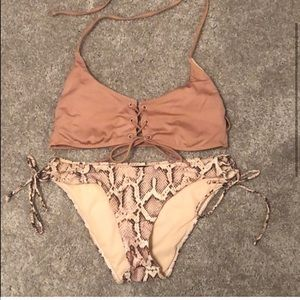 La Hearts Swim - LA hearts swimsuit. medium/small bottoms